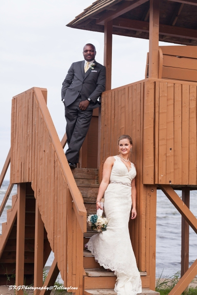Cassie and Leke at Tower on Beach
