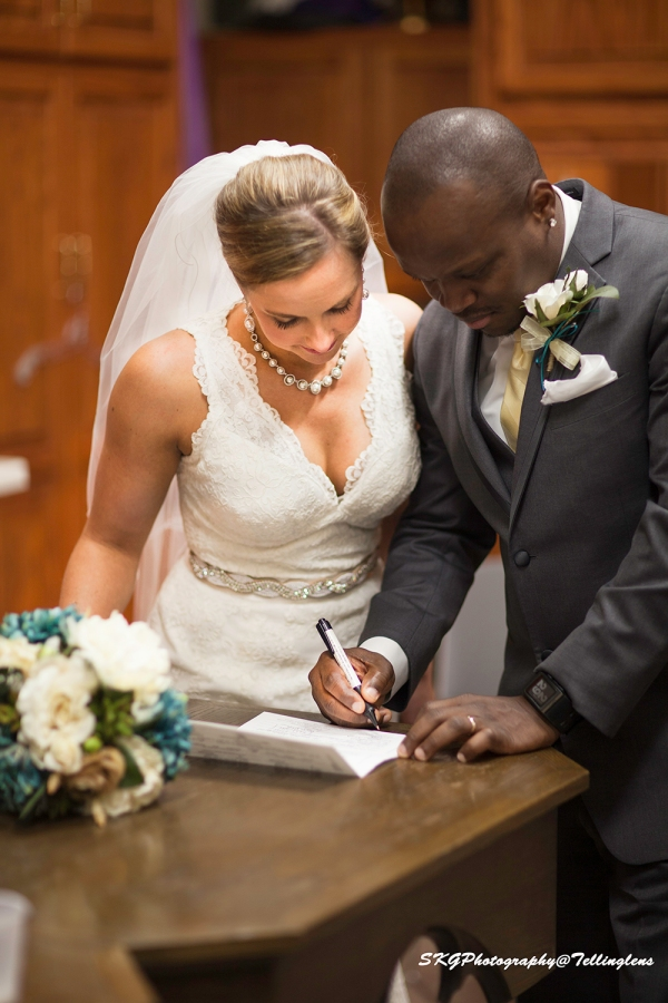 Signing Marriage Licence